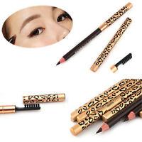 Waterproof Eyebrow Black Brown Eye Brow Pen Pencil With Brush Makeup Cosmetic RR