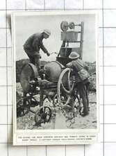 1917 Captured German Field Service Concrete Mixer For Making Dugouts