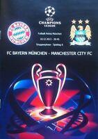 2013 BAYERN MUNICH v MANCHESTER CITY CHAMPIONS LEAGUE PROGRAMME