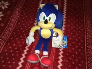 "NEW Official 13"" SONIC THE HEDGEHOG Sonic Plush Toy 2020 SEGA Doll THAILAND STS"