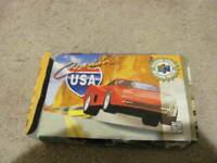 Cruisin USA Cruis'n N64 Nintendo 64  in Box no manual Tested Working DAMAGED BOX