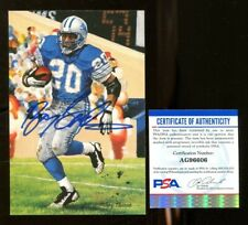 Barry Sanders Signed Goal Line Art Card GLAC Autographed Lions PSA/DNA