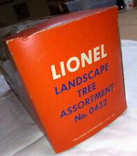 Lionel HO 0432 Tree Assortment, OB, Uncommon, Excellent, NO RESERVE