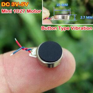 Micro Mini 10*2.7mm Flat vibration Motor Mobile Phone Button Type DC 3V-5V Motor