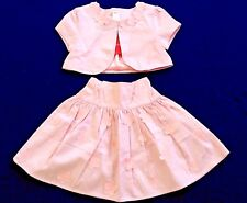 NWT GYMBOREE 2 PC Pink Cotton Corsage Flower Crop Jacket and Skirt Set Girls 6