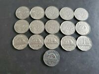 Canada 1922-1952 5 Cents George Canadian Nickels 16 coins - Great Starter#12