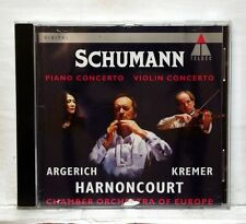 ARGERICH, KREMER - SCHUMANN piano concerto, violin concerto TELDEC CD NM