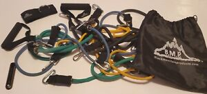Black Mountain Products Resistance Band Set with Door Anchor, Ankle Strap