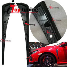 Carbon Fiber Side Fender Vent Moulding Trims canard Spoiler for Honda Civic 16+
