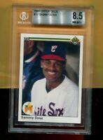 SAMMY SOSA CHICAGO WHITE SOX 1990 UPPER DECK #17 ROOKIE BECKETT GRADE 8.5