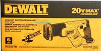 NEW IN BOX Dewalt 20V DCS387B Compact Reciprocating Saw Cordless 20 Volt Max