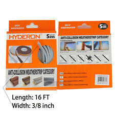 16 Ft Self Adhesive Draught Excluder Brush Home Window Seal Door Weather Strip