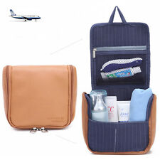 Mens PU Travel Toiletries Bag Washing Shower Kit Case Waterproof Really Small