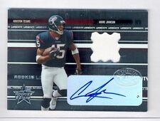 Andre Johnson 2003 Leaf Rookies & Stars #266 Auto Jersey Rookie Rc 7/10 RARE!