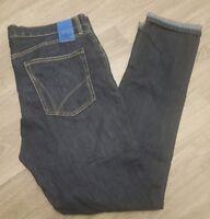 ADIDAS ORIGINALS SLIM / SKINNY STRAIGHT LEG DARK BLUE JEANS 36 W WAIST 34 LONG L
