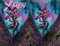 Astonishing X-Men 1 Marvel 2017 Adi Granov Psylocke Color Virgin Set 2 Variant