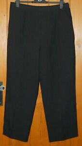Ladies, Black, Light, Office, Casual, Straight, Trousers, size 18 (46) Short
