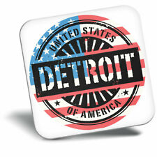 Awesome Fridge Magnet - Detroit USA American Flag Travel Cool Gift #6055