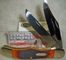 CASE XX Checkered Chestnut Bone Folding Hunter Stainless Pocket Knives Knife