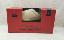 Club Room Spring Foam Slippers  Medium 8-9  Brown w/Foam Inserts USA