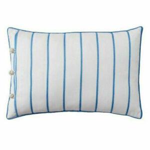New Chaps Throw Pillow Mandarin Garden Decorative White Blue Striped