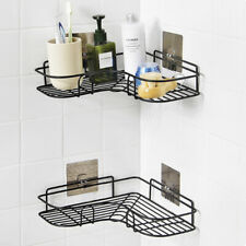 New Bathroom Triangular Shower Shelf Home Corner Storage Holder Organizer Rack
