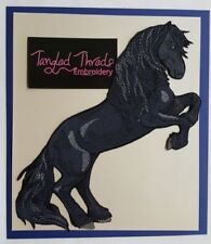 """Friesian Horse Embroidered Patch Approx Size 6.9"""" x 8.9"""""""