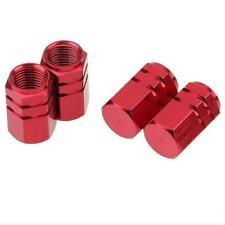 4pcs Aluminum Car Truck Bike Wheel Tyre Tire Air Rims Valve Stem Caps Covers Red