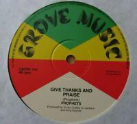 "PROPHETS - Give Thanks & Praise - 12"" Vinyl - 1979 Grove Music 🇧🇴 ROOTS REGGAE"