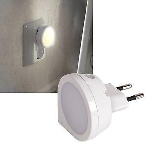 LED Nachtlicht mit Sensor für Steckdose Orientierungslicht Notlicht Nachtlampe