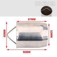 51mm Removable Silencer Exhaust Pipe Muffler DB Killer Noise Eliminator