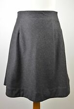 Premium women's Ralph Lauren dark grey wool blend fit & flare skirt US 6 UK 8