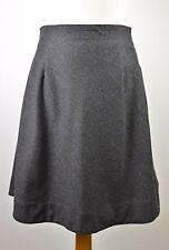 Premium women's Ralph Lauren dark grey wool blend fit & flare skirt US 6 UK 8