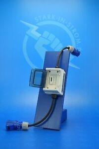 Zwischenzähler Adapter 230V CEE-BLAU mit Digital LCD Zähler