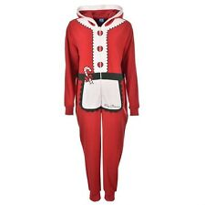 Star Womens Novelty Onesie Pyjamas Ladies Size 10 Claus Fleece Nightwear B152-2