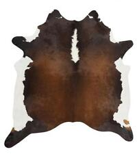 Exquisite Natural Cow Hide Rug, Chocolate