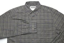 Mountain Khakis Mens Casual Button Front Shirt Size Small Brown Navy 100% Cotton