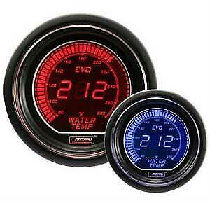 Prosport Universal Evo Series 52mm Digital Water Temperature Gauge (Blue/Red)