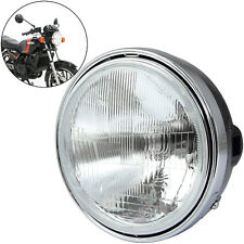"Motorcycle 7 Inch Round Halogen Headlight 12V60/55W H4 7"""