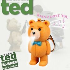3D Teddy Bear Light Up LED Torch, Talking I LOVE YOU Keyring Keychain UKYS100