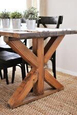 Farmhouse DIY Table Legs - Table Trestle Base Solid Wood Handmade - Chunky