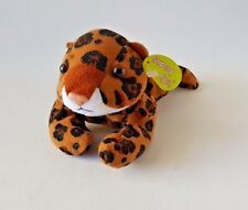"JELLY BEANS ""NIGHTY THE LEOPARD"" SITTING STUFFED TOY LEOPARD 7"""