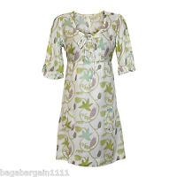 NEW WHITE STUFF PURPLE GREEN BROWN IVORY SUMMER TUNIC SUN DRESS KAFTAN FLORAL