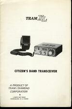 Original Factory Tram Xl 23 Channel Cb Radio Owner's Manual