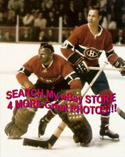 BROWN MASK! HOFer #35 Tony ESPOSITO & Ted HARRIS Montreal CANADIENS 8X10 AWESOME