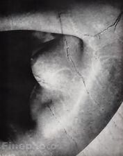 1955 Vintage Heinz Hajek-Halke Surreal Female Nude Cracked Stone Breast Photo