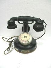 Ancien Téléphone à colonne BURGUNDER en bakélite et métal noir