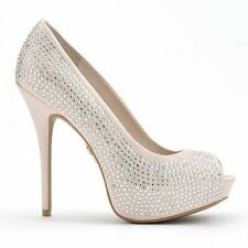 Jennifer Lopez  BLINGY Studded Peep-Toe Platform HighHeels Pumps Sz 10M NEW $75