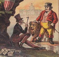 Uncle Sam Patriotic England John Bull Owl Mayo Boston Codfish Advertising Card