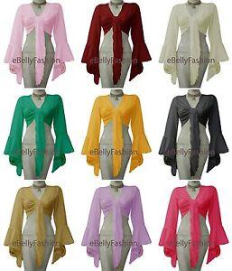 Women Cotton Belly Dance Flair Wrap Choli Gypsy Top Haut Dance Blouse 32 Colors